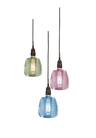 Amalfi IP44 bathroom coloured glass pendants