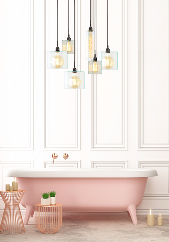 Multi level pendant lights for bathrooms and modern homes