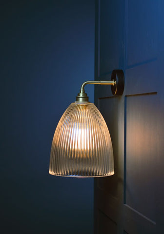Prismatic glass wall light from The Light Yard