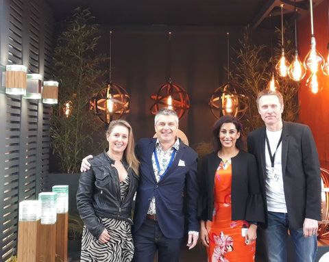 Saira Khan guest of the light yard at RHS chelsea 2019