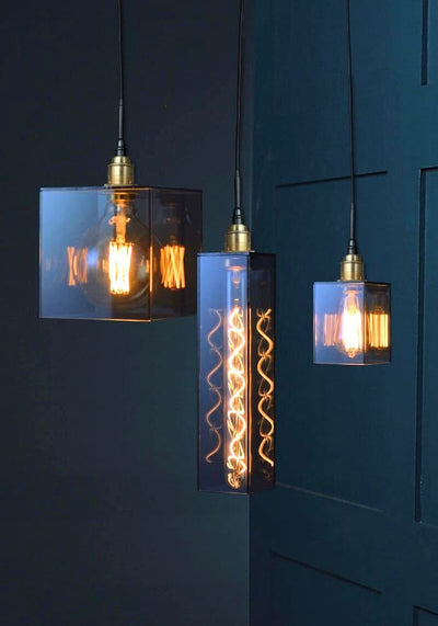 IP44 SMOKED GLASS BATHROOM PENDANT CLUSTER - THE LIGHT YARD