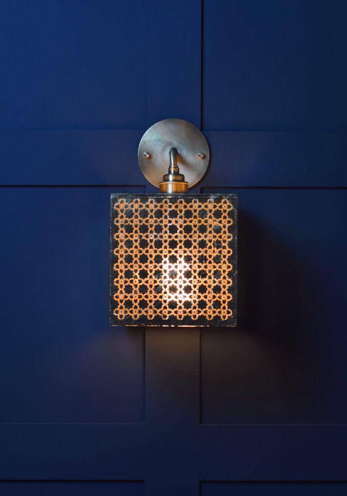 IP44 MOROCCAN GOLD LEAF BATHROOM WALL LIGHT - The Light Yard
