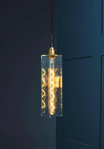 IP44 CLEAR GLASS BATHROOM PENDANT LIGHT - The Light Yard