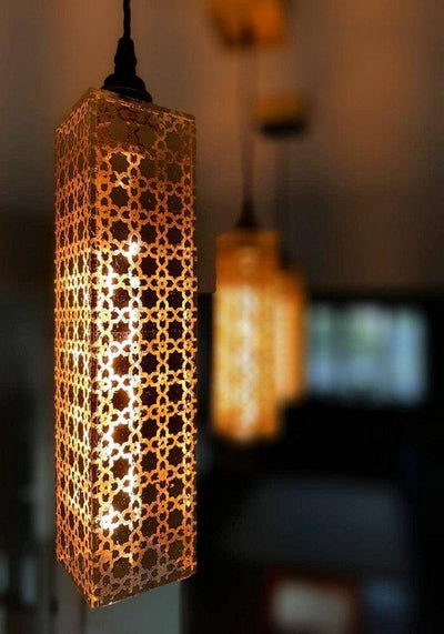 MOROCCAN GOLD LEAF PENDANT LIGHT - The Light Yard