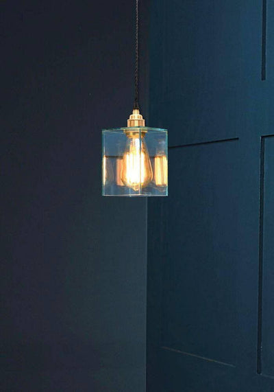 CLEAR GLASS PENDANT LIGHT - The Light Yard