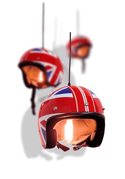 UNION JACK HELMET PENDANT LIGHT - The Light Yard