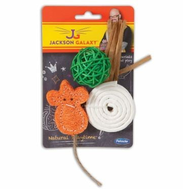JACKSON GALAXY CAT TOYS NATURAL 3PK