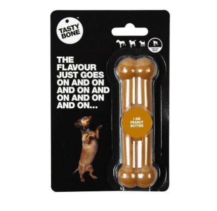 TASTY BONE NYLON PEANUT BUTTER TOY