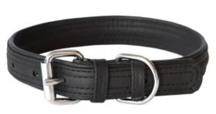 ROGZ SOFT LEATHER COLLAR BLACK