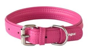 ROGZ SOFT LEATHER COLLAR PINK