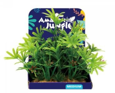 AMAZON JUNGLE FINGER PLANT PLASTIC PLANT DISPLAY 15CM