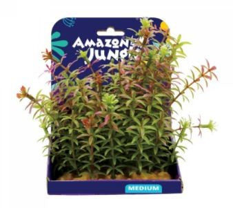 AMAZON JUNGLE RED ANACHARIS PLASTIC PLANT 15CM