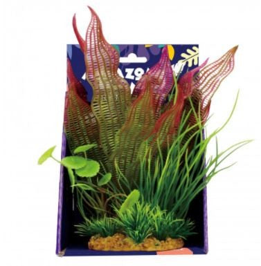 AMAZON JUNGLE MIXED MADAGASCAR PLASTIC PLANT DISPLAY 20CM