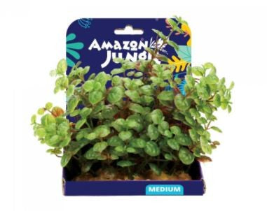 AMAZON JUNGLE LUDWIGIA PLASTIC PLANT DISPLAY 15CM