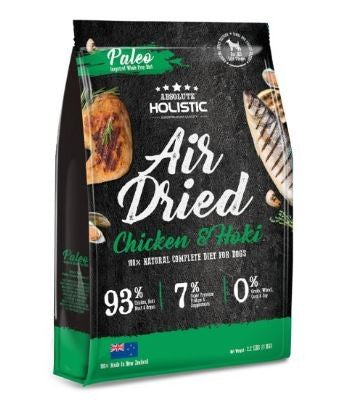 ABSOLUTE HOLISTIC AIR DRIED DOG FOOD CHICKEN & HOKI 1KG