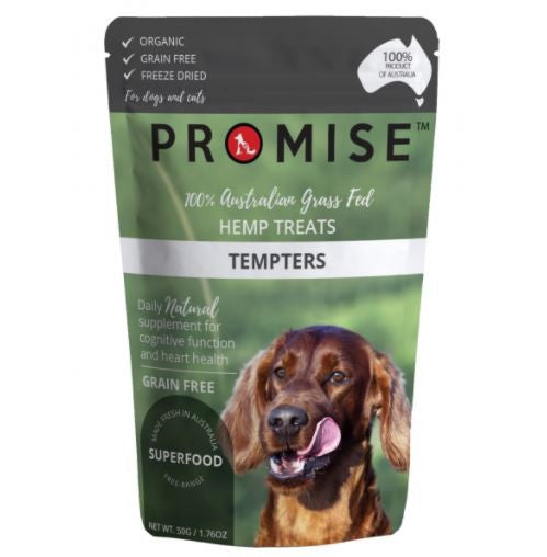 PROMISE HEMP & BEEF LIVER TREAT TEMPTERS 50G