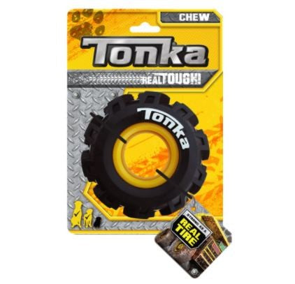 TONKA SEISMIC TREAD TYRE BLACK/YELLOW 12.5CM