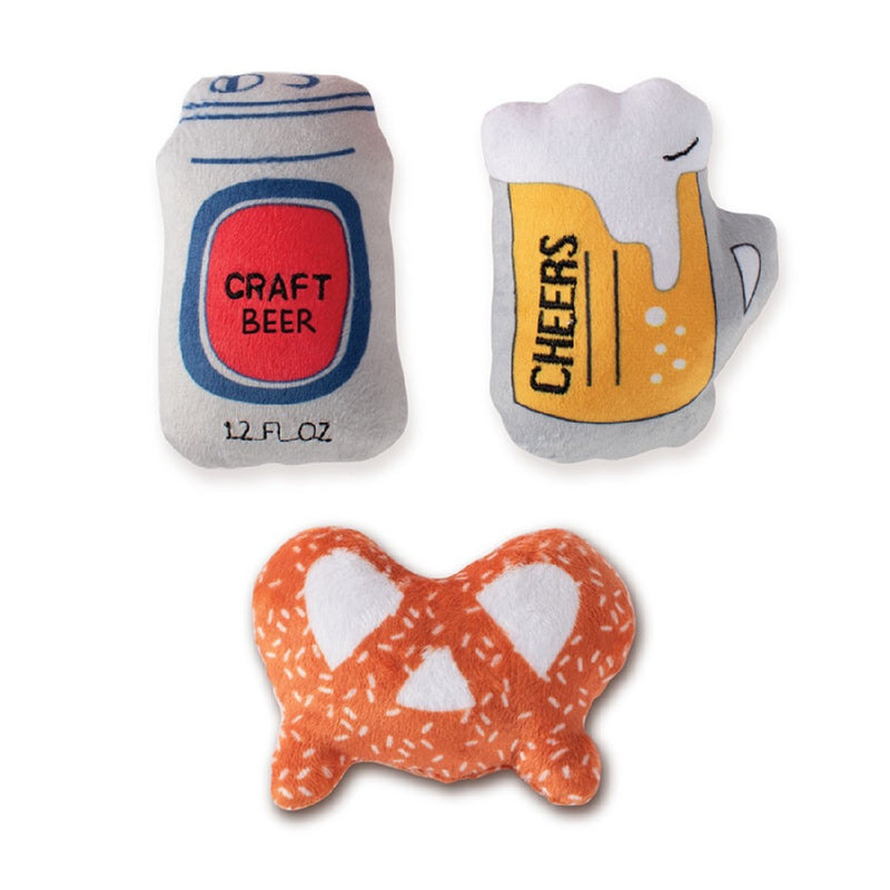 BEER 3-PIECE SMALL DOG TOY FRINGE STUDIO