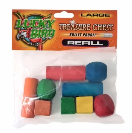 TREASURE CHEST REFILLS 4 BIRD TOY