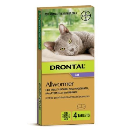 DRONTAL CAT ALLWORMER 4KG