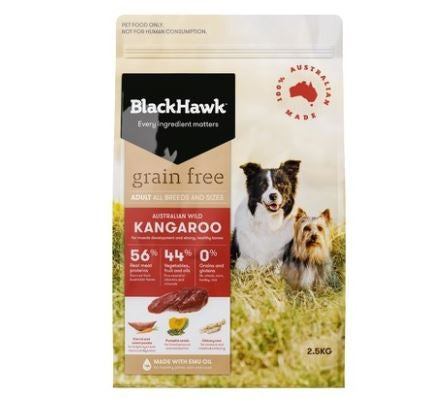 BLACK HAWK DOG GRAIN FREE ADULT KANGAROO
