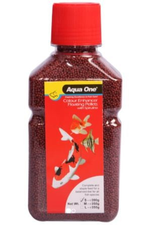 AQUA ONE FLOATING SMALL PELLET COLOUR ENHANCER