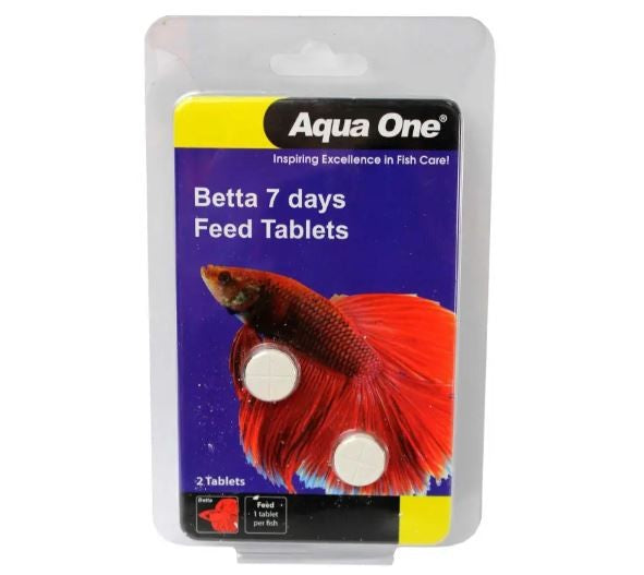 AQUA ONE BETTA 7 DAY FEEDER TABLETS 2 PACK