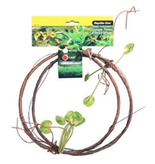 REPTILE ONE JUNGLE TWIST FLEXI-VINE WITH LEAVES 1.5M