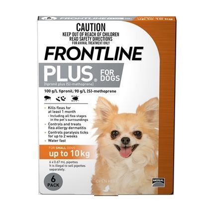 FRONTLINE PLUS FOR DOGS UP TO 10KG