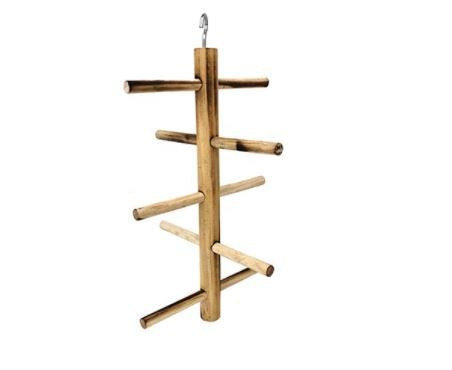 BIRD PERCH HANGING CROSS 30CM