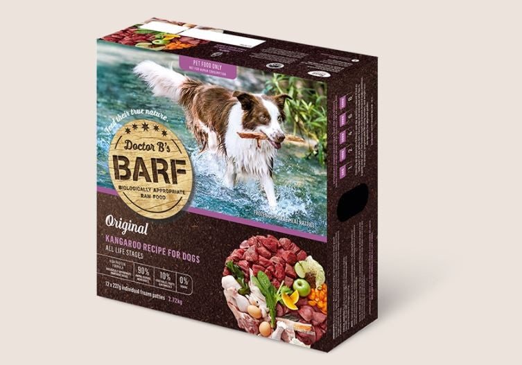BARF FOR DOGS KANGAROO PATTIES 2.72kg