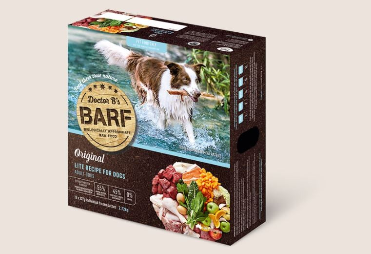 BARF FOR DOGS LITE PATTIES 2.72KG