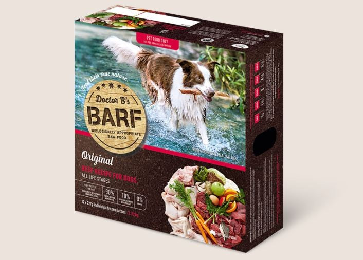 BARF FOR DOGS BEEF PATTIES 2.72 KG