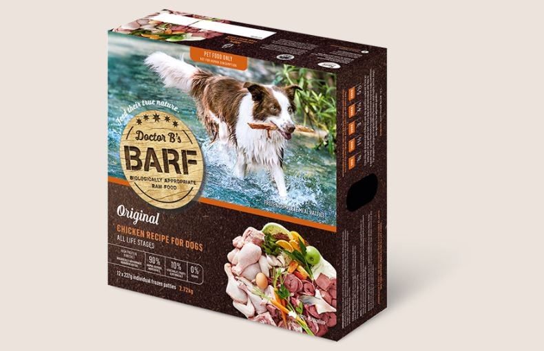 BARF FOR DOGS CHICKEN PATTIES 2.72KG
