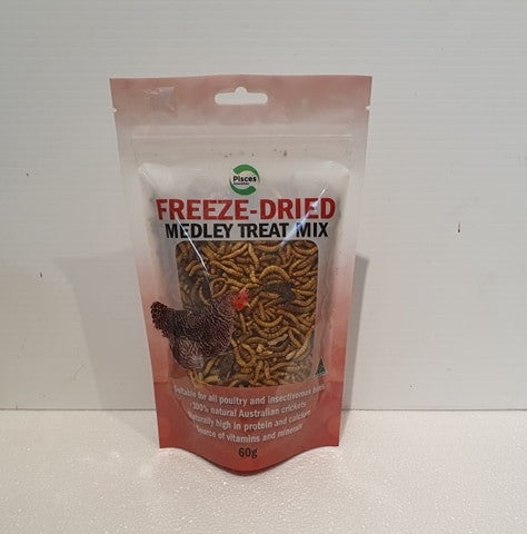 PISCES FREEZE-DRIED MEDLEY TREAT MIX 60G