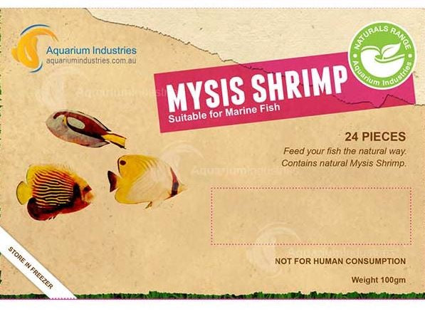 AQUARIUM INDUSTRIES MYSIS SHRIMP BLISTER PACK 100G