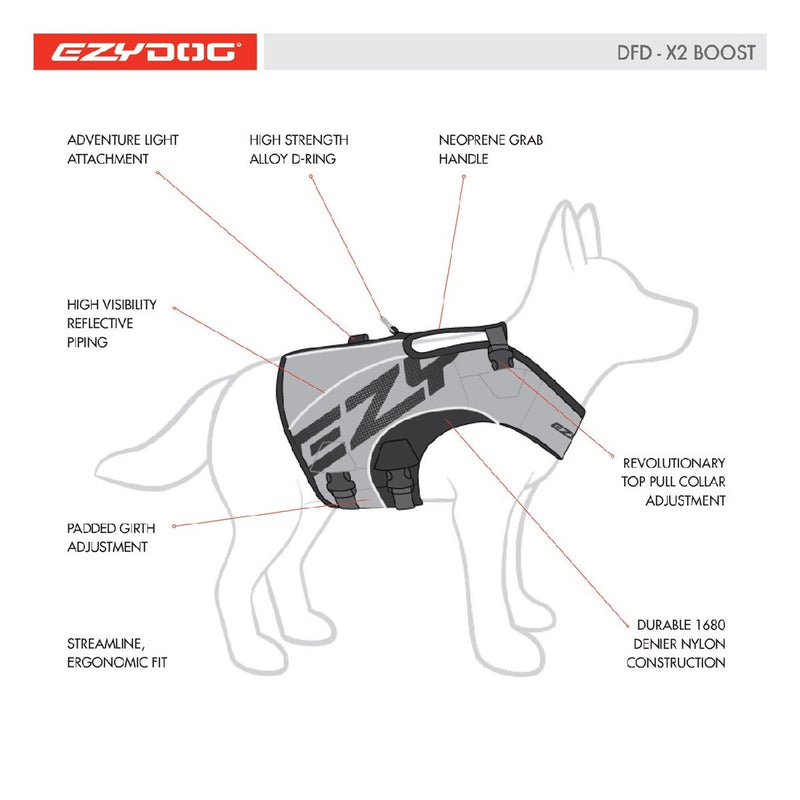 EZYDOG FLOATATION VEST X2 BOOST RED