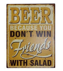 BEER FRIENDS TIN SIGN