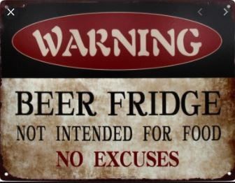 BAR FRIDGE METAL SIGN