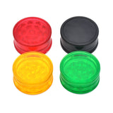 Grinder CBD - Plastique rouge - Transparent - 42 mm variantes