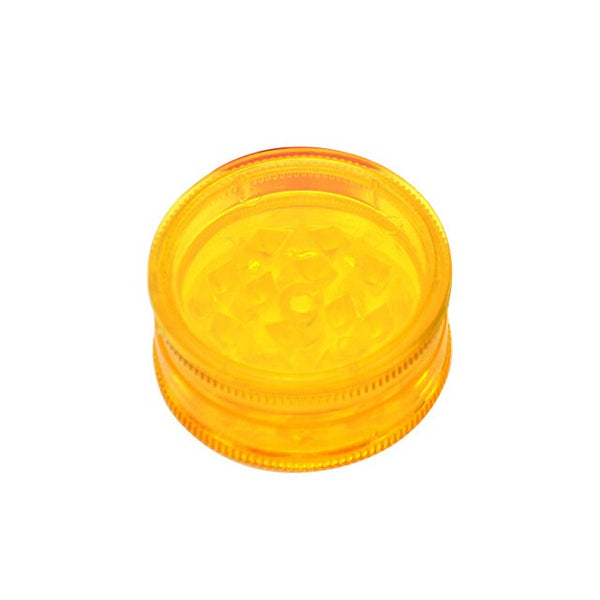 Grinder CBD - Plastique jaune - Transparent - 42 mm
