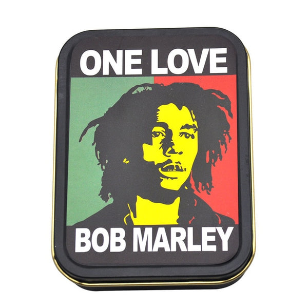 Grinder CBD - Plastique - Pack avec pipe - Bob Marley One Love