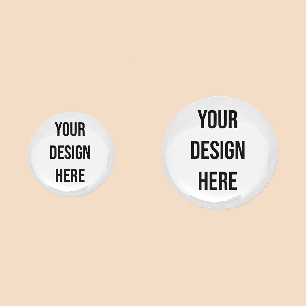 Custom Pin Back Buttons