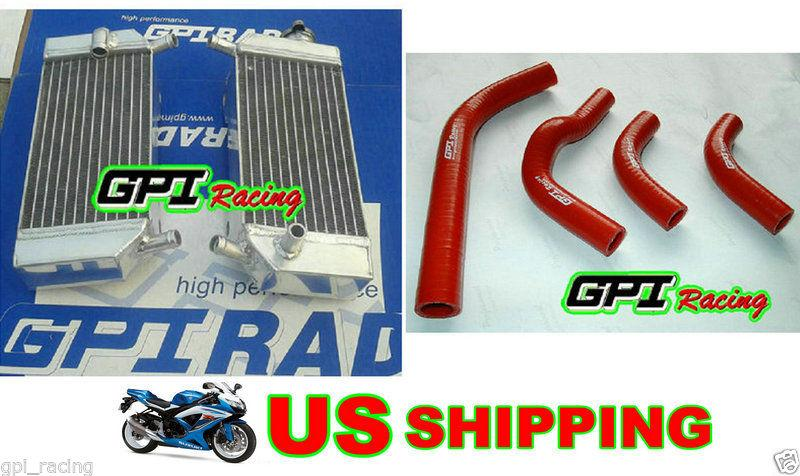 aluminum radiator and  hose for  2004-2009  HONDA CRF250R/CRF250X  CRF 250 R / CRF 250 X 2004 2005 2006 2007 2008 2009