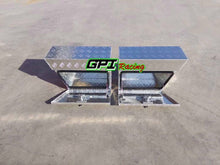 "Load image into Gallery viewer, 30""x10""x16"" Pair ALUMINUM PICKUP TRUCK TRUNK BED TOOL BOX TRAILER STORAGE GPI"