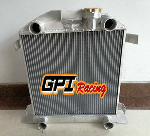 FOR Ford Lowboy Chopped w/flathead V8 engine 1932-1939 38 37 Aluminum Radiator