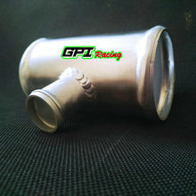 "Load image into Gallery viewer, 3"" 76 mm Blow Off Valve Adapter Aluminum T-Pipe Shape Tube 38mm BOV"