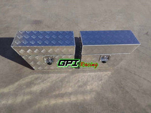 "30""x10""x16"" Pair ALUMINUM PICKUP TRUCK TRUNK BED TOOL BOX TRAILER STORAGE GPI"
