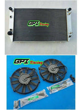 Load image into Gallery viewer, 62MM Fit Jaguar XJS V12 / XJ12 A/T 1976-1996 1995 1994  Aluminum Radiator& FANS