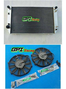 62MM Fit Jaguar XJS V12 / XJ12 A/T 1976-1996 1995 1994  Aluminum Radiator& FANS
